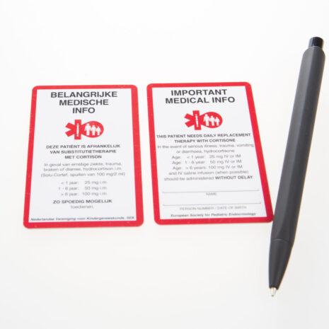 SOS kaart voor kinderen voorbeeld met pen