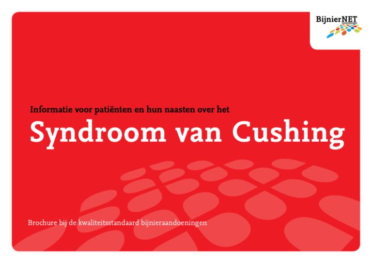 Informatiebrochure over het syndroom van Cushing is vernieuwd