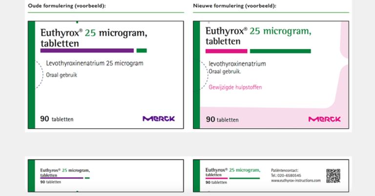 Alle sterktes Euthyrox zonder lactose beschikbaar