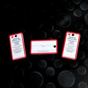 SOS Key-cards voor volwassenen, uitsluitend in het Engels, per 3 stuks.